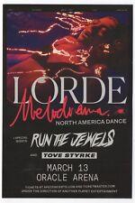 Mint Original 2009 Lorde Run The Jewels Oakland Ca Oracle Arena Concert Handbill