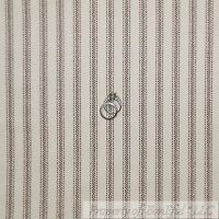 BonEful Fabric FQ Cotton Quilt Flannel Cream Brown Antique Ticking Stripe Calico