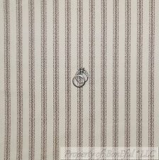 BonEful Fabric FQ Cotton Quilt Flannel Cream Brown Antique Ticking Stripe Calico