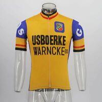 1979 ijsboerke Cycling Jersey Retro Road Pro Clothing MTB Short Sleeve Racing