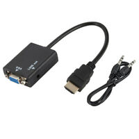 HDMI to VGA+ Audio Converter Adapter Cable HD 1080P For PC DVD HDTV