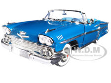 1958 CHEVROLET IMPALA CONVERTIBLE TURQUOISE 1/18 DIECAST CAR BY MOTORMAX 73112