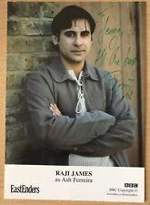 RAJI JAMES *Ash Ferreira* EASTENDERS Hand Signed BBC Cast Card Autograph