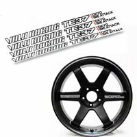 RS STYLE VR RACING TE37 Tokyo Time Attack Wheel Spoke Sticker Decals - 4 Pcs Set