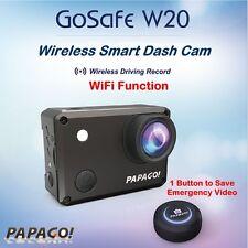 PAPAGO GoSafe W20⊕WiFi Car Cam DVR Dash Camera w Exclusive APP+160° Wide Angle