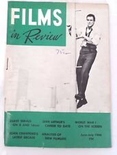 FILMS IN REVIEW 1966,Sean Connery 'A Fine Madness' Cover