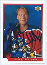 Brian Skrudland signed 1993-94 Upper Deck card Florida Panthers autograph #96