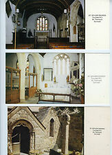 Lot of 3 Oversized Postcards St. Mylor Church, Nr. Falmouth, Cornwall Limited Ed
