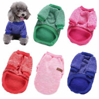 Small Puppy Winter Cotton Warm Sweater Cat Dog Jacket Pet Coat Clothes S-XXL