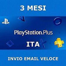 PS Plus PSN PlayStation Plus 3 mesi 2€!!! PS4 abbonamento