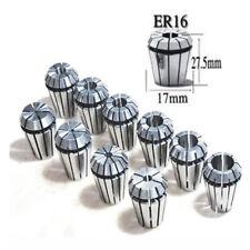 10pcs Er16 1mm 10mm Precision Spring Collet Set Cnc Milling Lathe Chuck Tool Sm