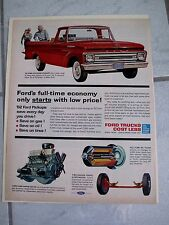 1962 FORD PICKUPS - VINTAGE AMERICANA  NEWSPAPER  AD.