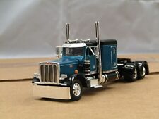 "Dcp teal/black Peterbilt 359 63""flattop tractor new no box"