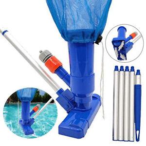Schwimmbad Pool Boden Reinigungsset Vakuum Staubsauger Kopf Bürste 120CM Stange