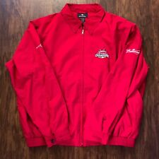 2006 St. Louis Cardinals World Series Zip Antigua Jacket Size L Bud Light Red