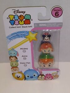 Tsum Tsum Series 6 Peter Pan Anna Mickey New