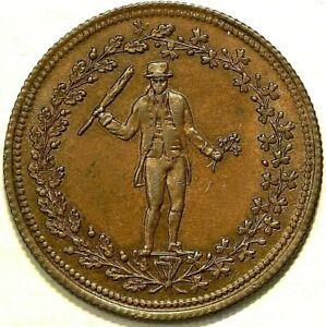 (1824) Thomas Halliday Colonial Token AM 4 Halfpenny #6729