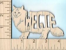 Norwegian Forest Cat Wegie laser cut and engraved wood Magnet