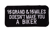WHAT MAKES YOU A BIKER  Iron On Motorcycle Biker Vest Jacket  Patch P76