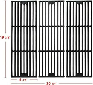 Cast Iron Grill Grates for Chargriller 5050, 3001, 3008, 3030 Set of 3