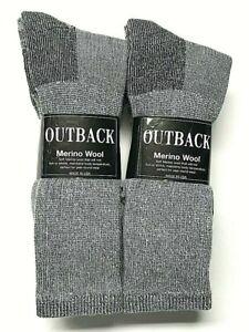 3 or 6 Pair men's Acrylic & Merino Wool Work / Hunting Boot Sock Size 10-13.