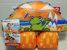 Swimschool Tot Swimmer with Detachable Arm Floats Frog Orange 4 - 6 Years. NEW