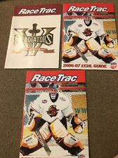 Lot Of 3 Race Trac ECHL Guides - 2006-2007 & Gladiators Fifth Anniversary (KC)