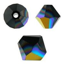 Swarovski Crystal Bicone Jet AB Color. 8mm. Approx. 24 PCS. 5328