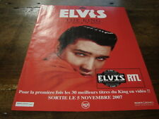 ELVIS PRESELY - PUBLICITE THE KING OF ROCK'N'ROLL !!!!!