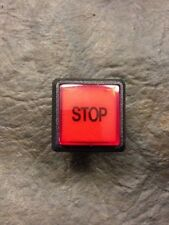 "Small Illuminated Square Arcade Button ""STOP"""