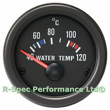 52mm Black Face / Clear Lens Water Temp Temperature Gauge Kit - With Sensor