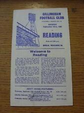 23/09/1967 Gillingham V lettura (piccolo segno sul coperchio, lieve piega). nessuna evidente