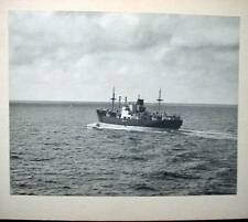 Vintage Black & White Photo Unknown  Paraguay? Steamship Lines Tramp Steamer