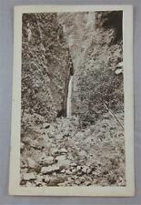 Oahu Hawaii Mountain Waterfall B/W Vintage Postcard 1907 Later Real Photo Rppc