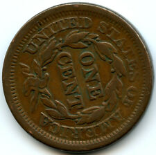1854 Braided Hair Large Cent 75 Degree Rotated Reverse