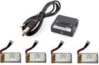 Protocol SlipStream 3.7v 350mAh LiPo Battery (4) w/ Dual Charger