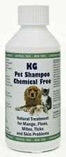 KG Wash & Go Pet Shampoo 250ml Treats Mange, Fleas, Ticks, Mites & Itchy Skin