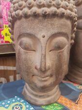 BUDDHA HEAD HOME GARDEN OUTDOOR PATIO STATUE ORNAMENT ~ 30cm ~ GREAT GIFT IDEA