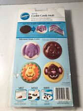 Wilton Animal Cookie Candy Mold Plastic Treat  Making Chocolate Mold 4 Designs