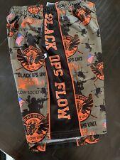 Flow Society Boys Lax Lacrosse Shorts Size M Med Black Ops Orange