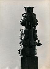 Art Brut Primitif Sculpture Totem Masque Photo P. Joly V. Cardot c. 1970  ART 85