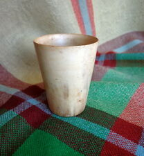 "Antique Scottish Cow Horn Whisky Cup Shot Glass 2.5"" Edwardian ""Lady's Dram""  #5"
