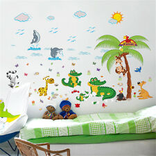 Many Animals Crocodile Room Home Decor Removable Wall Stickers Decals Decoration