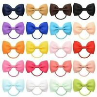 Ribbon Knotted Hair Bow Elastics Hair Ties Band Ring Scrunchies Ponytail Holder