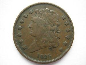 United States 1835 copper Half Cent VF