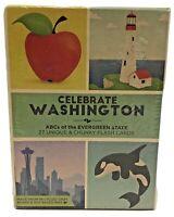 Celebrate Washington ABCs Of The Evergreen State NIB Chunky Unique Flash Cards