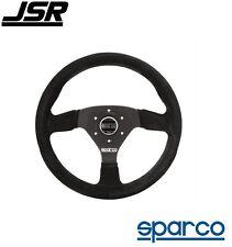 Sparco R 383 Steering Wheel 3-Spoke Black Suede PN: 015R383PSN