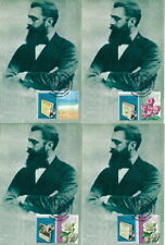 ISRAEL 2010 HERZL BOOK ALTNEULAND 10 LANGUAGE MAX CARDS