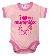 Peleles y bodies de manga corta rosa 100% algodón para niñas de 0 a 24 meses