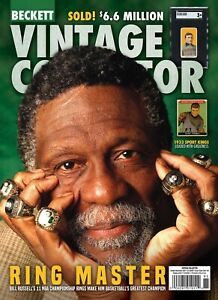 NEW Oct/Nov 2021 Beckett VINTAGE COLLECTOR  Price Guide with BILL RUSSELL